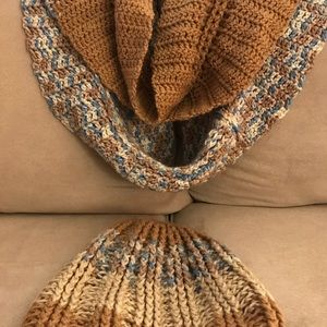 Handmade infinity scarf and hat set